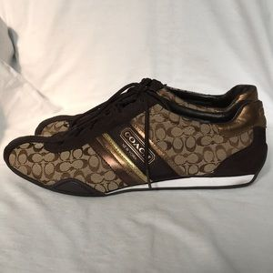 COACH RUFINA sneakers.UEC. Brown/gold.size 11